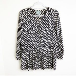Maeve Button Down Loose Fitting Blouse